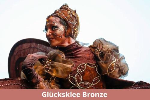 Glücksklee Bronze